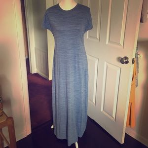 "LuLaRoe blue ""Maria Maxi ""Dress  Sz Sm"